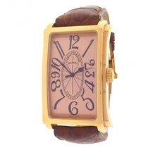 Cuervo y Sobrinos Prominente 01011 18K Rose Gold Brown Leather...
