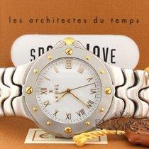 Ebel Sportwave 2-Tone 18K Gold & Steel Date 38MM Mens...