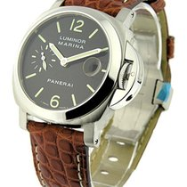 Panerai PAM 00048 PAM 48 - Luminor Marina in Steel - On Brown...