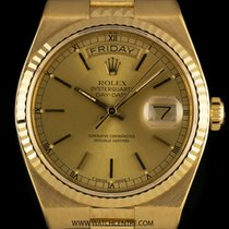 Rolex 18k Y/G Champagne Dial Egyptian Oysterquartz Day-Date 19038