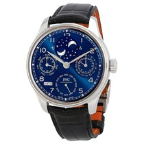IWC Portugieser Perptual Calendar Double Moonphase 18K White...