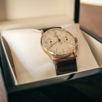 Jaeger-LeCoultre Chronograph 18k Gold Vintage 1940 Expertise