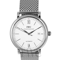 IWC Portofino Automatic White Steel/Leather 40mm - IW356505