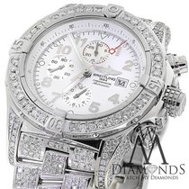 Breitling Super Avenger White A13370 15ct Fully Covered...