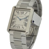 Cartier W5200014 Tank Solo in Steel - on Steel Bracelet with...