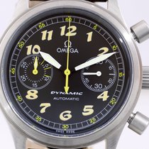Omega Dynamic Chronograph Steel / Leather 38 mm arabic dial Top