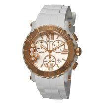 Chopard Happy Sport Round Mother of Pearl Chronograph Ladies...