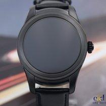 Montblanc Summit Smartwatch 46mm Black PVD Steel on Leather Strap
