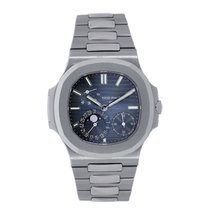 Patek Philippe Nautilus  40mm Stainless Steel Moonphase Blue...