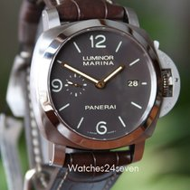 Panerai PAM 351  Luminor Marina 1950 3 Day Titianium Tobacco Dial