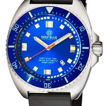 Deep Blue Deep Star 1000 Swiss Automatic Blue Sunray Dial...