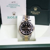 Rolex Gmt Master Ii 16713 18k Yellow Gold & SS Box &...