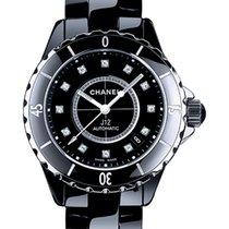 Chanel J12 Diamonds Black Dial