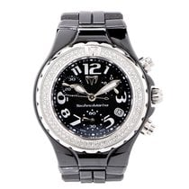 Technomarine Black Ceramic with Diamonds