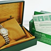 롤렉스 (Rolex) Ladies Gold & Steel Datejust Watch Diamonds Liknu