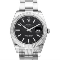Rolex Datejust 41 Black 18k White Gold/Steel Oyster 41mm - 126334
