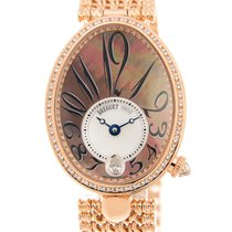 宝玑 (Breguet) Reine De Naples 18k Rose Gold Black Automatic...