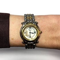 Chopard Happy Sport 18k Solid Gold & Ss Ladies Watch W/...
