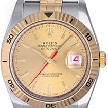 Rolex 2-Tone Turnograph Men's Watch 116263 White Dial