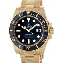 Rolex Submariner 116618ln Yellow Gold, 40mm