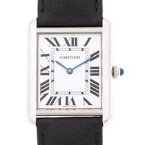 卡地亚 (Cartier) Tank Stainless Steel White Quartz WSTA0028