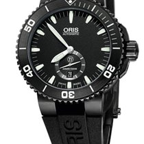 Oris Aquis Titan Small Second, Date, Black Plated Titanium