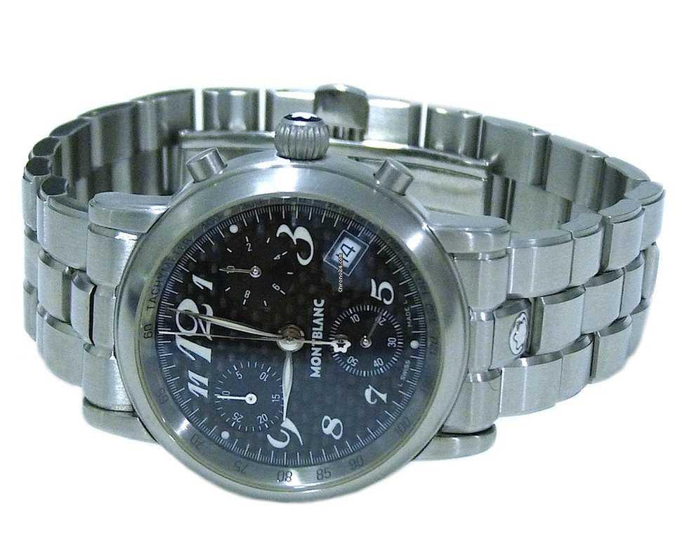 montblanc luxury shop black ecom chronograph utc collection timewalker watches retina online en mount