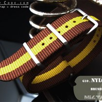 MiLTAT Thick 24mm NATO Watch Strap, Brown & Yellow, B