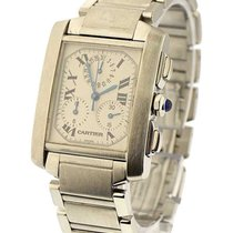Cartier W51001Q3 Tank Francaise Chronoflex in Steel - on...