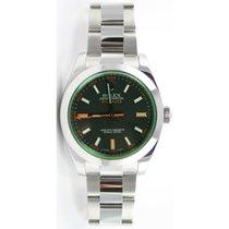 Rolex MILGAUSS 116400 GREEN CRYSTAL ANNIVERSARY EDITION -...