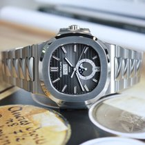 Patek Philippe Nautilus Black Dial Stainless Steel Men's Wa