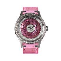 DeLaCour Promess Glamour Color Steel Diamond Bezel Pink