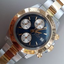 Universal Genève Compax Chronograph White and Yellow Gold