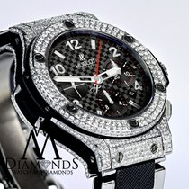 Hublot Big Bang Steel Ceramic Mens Watch 301.sb.131.sb Black...