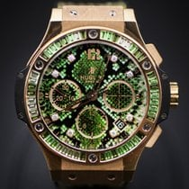 Hublot Big Bang 41MM Rose Gold Green Dial Python  Boa Green