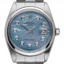 Rolex Oyster Perpetual Date Perlmutt Stahl Automatik Armband...