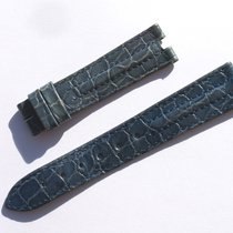 Zenith Croco Band Strap Blue 17 Mm 63/103 New Z17-04