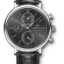 IWC Portofino Chronograph Stainless Steel Black Dial