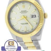 Rolex Datejust II 2 Cream Ivory 116333 Two-Tone 41mm Stainless