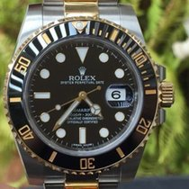 Rolex Submariner Black Ceramic Stainless Steel 18k Yellow Gold...