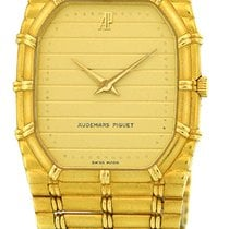 "Audemars Piguet Gent's 18K Yellow Gold  ""Bamboo""."