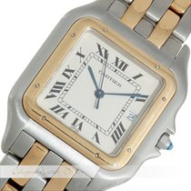Cartier Panthere Stahl / Gold Quarz