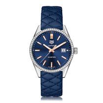 TAG Heuer Carrera Quartz Stainless Steel Blue Dial Ladies...