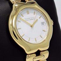 Tiffany & Co. Tesoro 18k Yellow Gold White Face 35mm Watch...