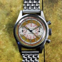 Gallet Vintage Tropical MultiChron Clamshell Chronograph