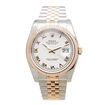 勞力士 (Rolex) Datejust 18k Rose Gold And Steel White Automatic...