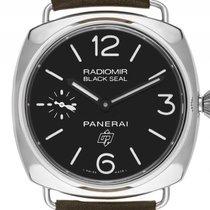 Panerai Radiomir Black Seal Stahl Handaufzug Armband Leder...
