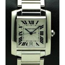 Cartier | Tank Francaise Gm 18 Kt White Gold, Full Set