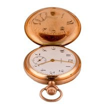 真力时 (Zenith) Grand Prix Paris 1900 Rose Gold Vintage Pocket Watch