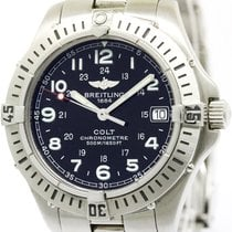 Breitling Polished Breitling Colt Stainless Steel Quartz Mens...